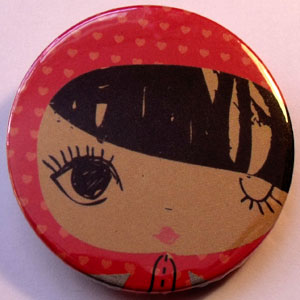 Retro Girls Badge 03
