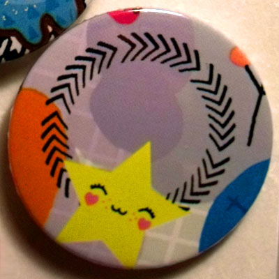 Star Cute Smiling Characters 38mm