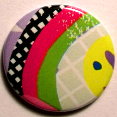 Shapes 3 Cute Smiley Badge 25mm