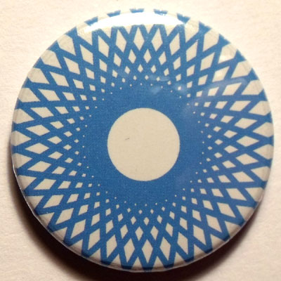 Blue & White Spirograph 25mm Button Badge