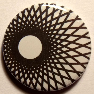 Black & White Spirograph 25mm Button Badge