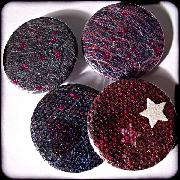 Sparkly Dark Angelina 38mm Badge