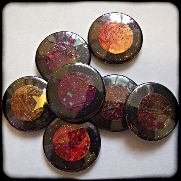 Dark Sparkly Textured 25mm Button Badge