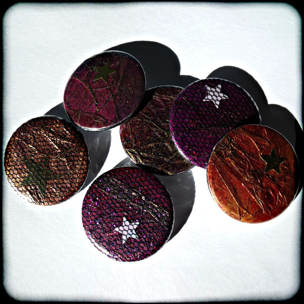 Sparkly Dark Textured 38mm Badge
