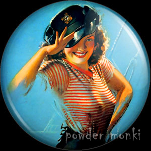 Christy - Pin-Up Girl Badge/Magnet