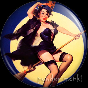 "Elvgren ""Riding High"" - Pin-Up Girl Badge/Magnet"