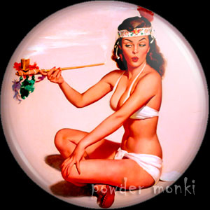 "Elvgren ""Sweet Sioux"" - Pin-Up Girl Badge/Magnet"