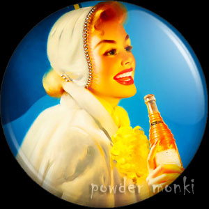 "Runci ""Nesbitt Orange Soda Ad"" - Pin-Up Girl Badge/Magnet 1"