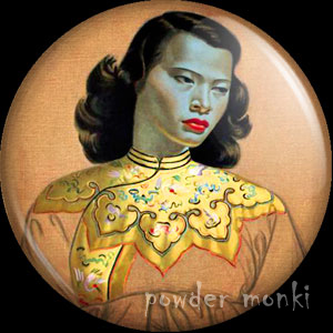 "Tretchikoff ""Chinese Girl"" - Pin-Up Girl Badge/Magnet"