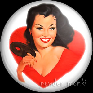 "Lind ""Cheryl"" - Pin-Up Girl Badge/Magnet"
