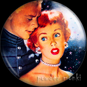 "Whitcomb ""Should I"" - Pin-Up Girl Badge/Magnet"