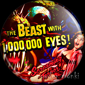 The Beast With 1,000,000 Eyes - Retro Cult B-Movie Badge/Magnet