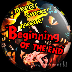 Beginning Of The End - Retro Cult B-Movie Badge/Magnet