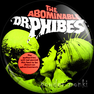 The Abominable Dr Phibes - Retro Cult B-Movie Badge/Magnet