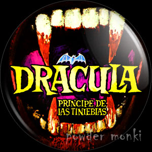Dracula Prince of Darkness - Retro Cult B-Movie Badge/Magnet