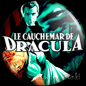 Dracula (1958 French) - Retro Cult B-Movie Badge/Magnet