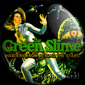 The Green Slime - Retro Cult B-Movie Badge/Magnet