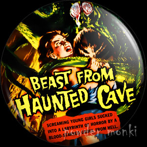 Beast From Haunted Cave - Retro Cult B-Movie Badge/Magnet