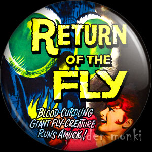 Return of The Fly - Retro Cult B-Movie Badge/Magnet