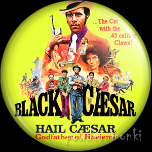 Black Caesar - Retro Cult Movie Badge/Magnet