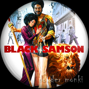 Black Samson - Retro Cult Movie Badge/Magnet