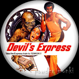 Devil's Express - Retro Cult Movie Badge/Magnet