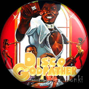 Disco Godfather - Retro Cult Movie Badge/Magnet