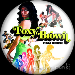Foxy Brown - Retro Cult Movie Badge/Magnet