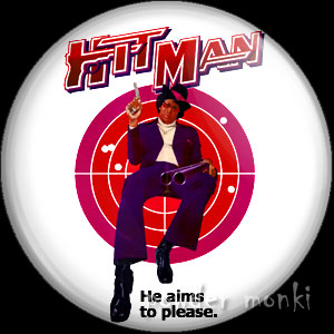 Hit Man - Retro Cult Movie Badge/Magnet