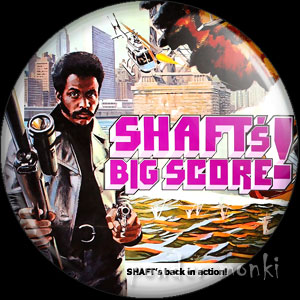 Shaft's Big Score - Retro Cult Movie Badge/Magnet