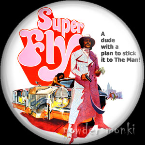 Super Fly - Retro Cult Movie Badge/Magnet