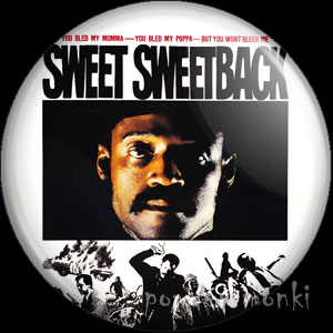 Sweet Sweetback - Retro Cult Movie Badge/Magnet