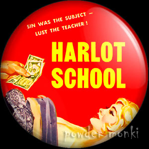 Harlot School - Pulp Fiction Badge/Magnet