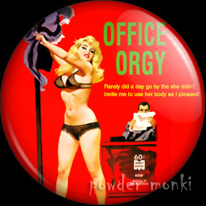 Office Orgy - Pulp Fiction Badge/Magnet