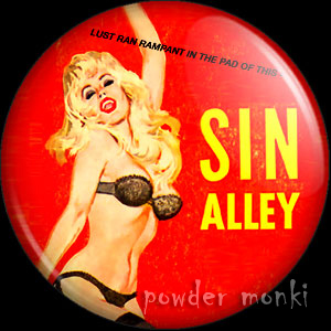 Sin Alley - Pulp Fiction Badge/Magnet