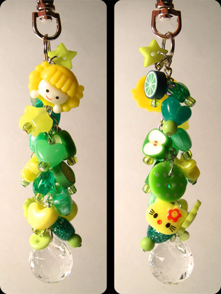 Green & Yellow Cute Kawaii Bag Charm