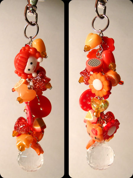 Red & Orange Cute Kawaii Bag Charm