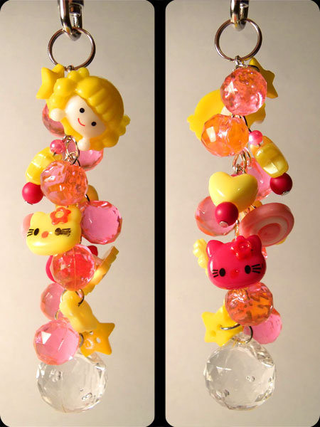 Yellow & Pink Cute Kawaii Bag Charm