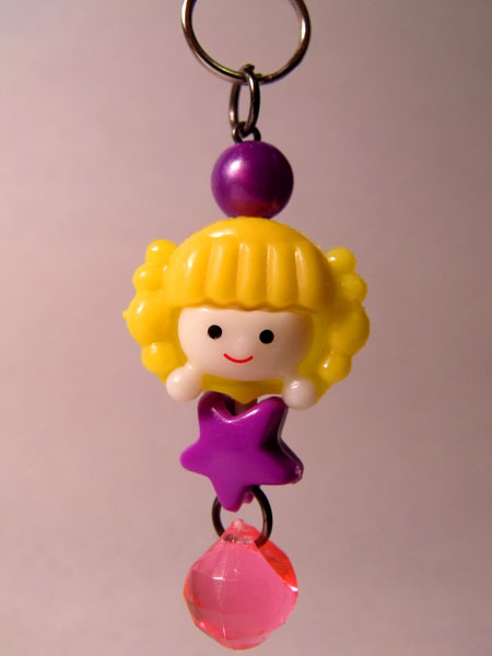 Cute Girl Yellow & Purple Kawaii Key/Bag Charm