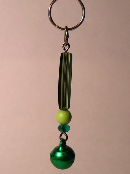 Green Tinkling Bell Key Charm/Mini Bag Charm