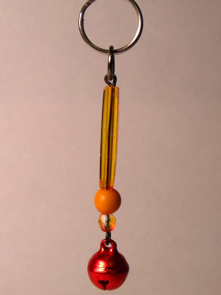 Orange Tinkling Bell Key Charm/Mini Bag Charm