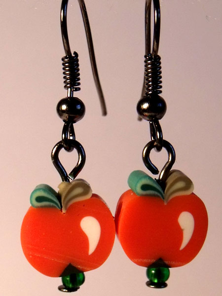 Apple Red Cute Fruit Earrings