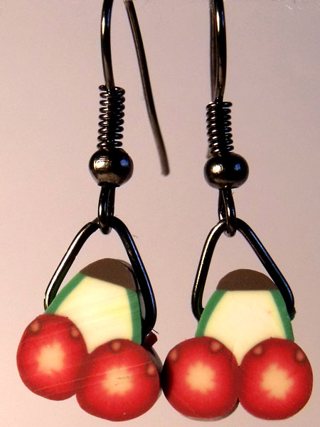 Cherries Cute Fruit Earrings