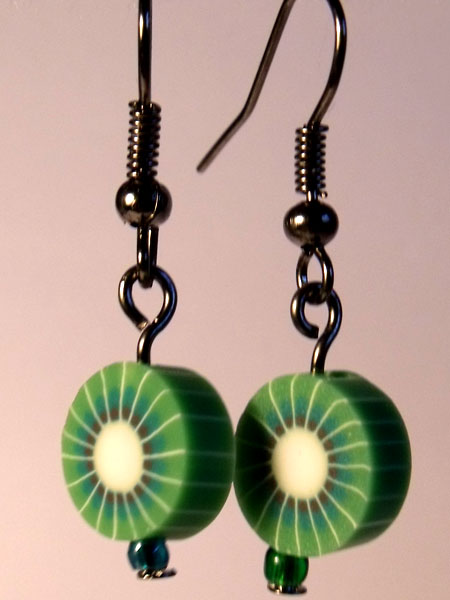 Kiwi Cute Fruit Earrings