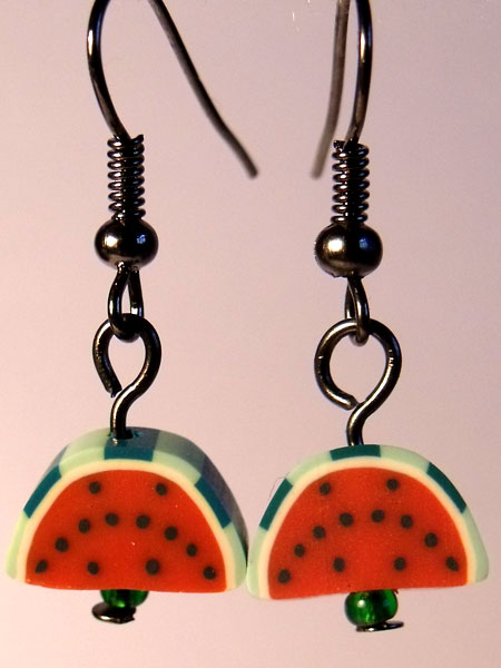 Watermelon Slices Cute Fruit Earrings