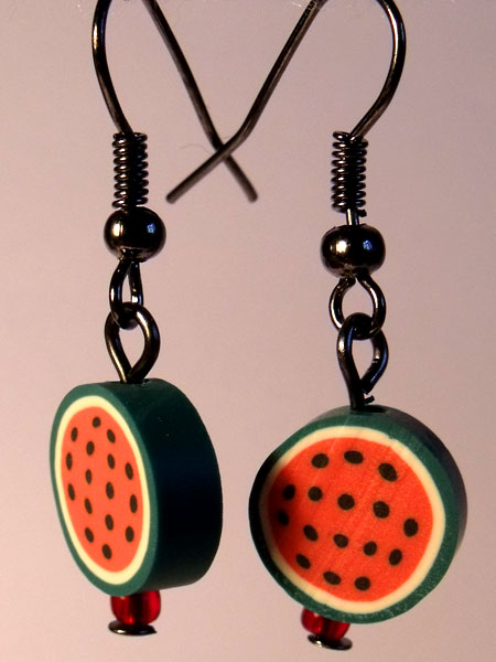 Watermelon Cute Fruit Earrings