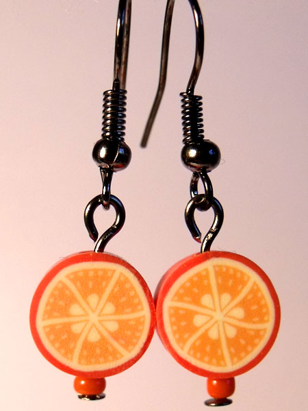 Orange Cute Fruit Earrings