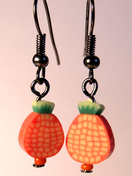 Pineapple Cute Fruit Earrings