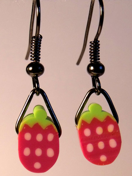 Raspberry Cute Fruit Earrings