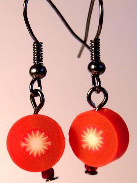 Tomato Cute Fruit Earrings